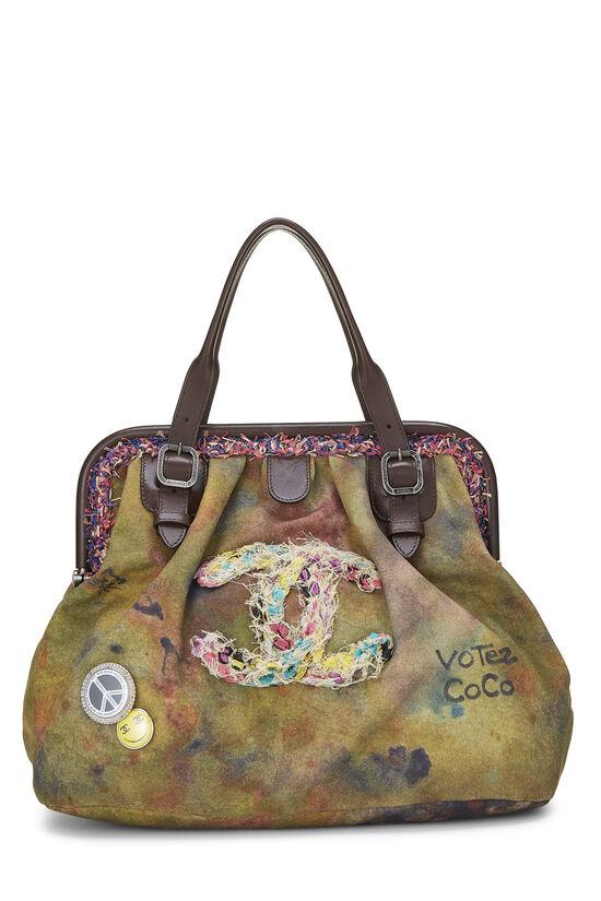 Green Canvas Graffiti Bowling Bag, , large image number 0