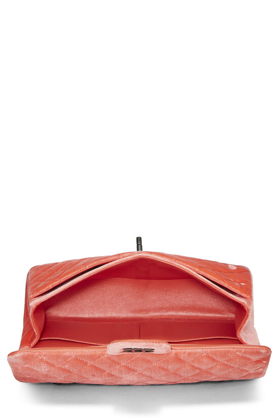 Coral Quilted Velvet Classic Double Flap Medium, , large image number 5