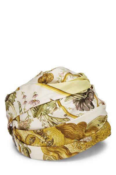 Cream Silk Turban Hat