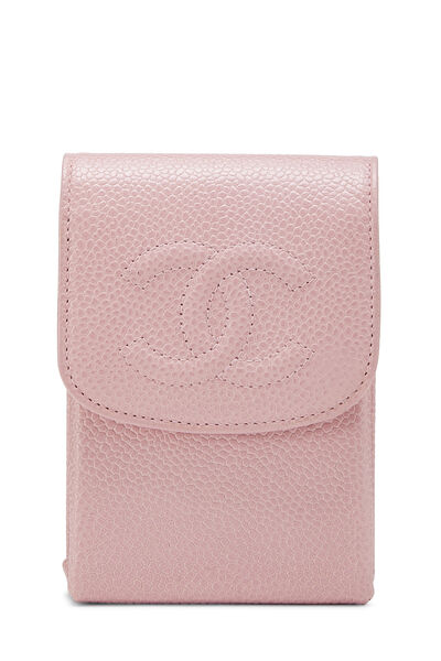 Pink Caviar 'CC' Snap Pouch