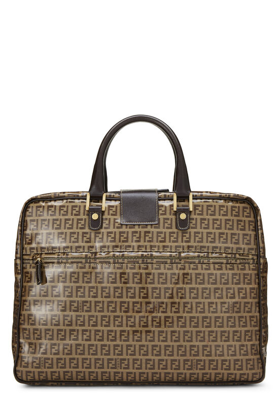 Brown Zucchino Coated Canvas Briefcase, , large image number 3