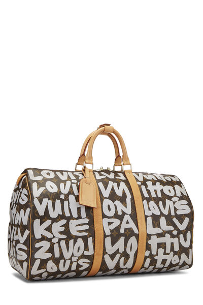 Stephen Sprouse x Louis Vuitton Grey Monogram Graffiti Keepall 50, , large