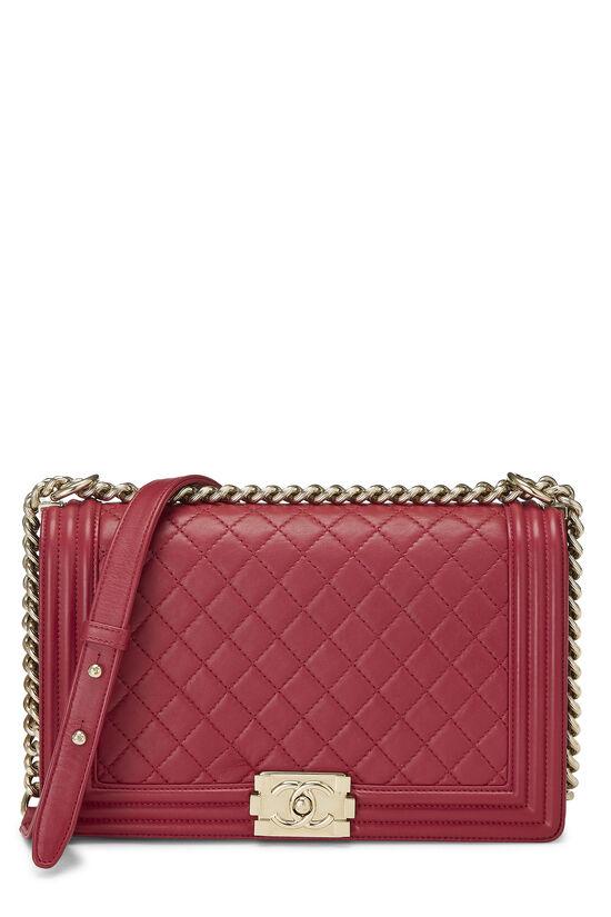 Pink Quilted Lambskin Boy Bag Medium, , large image number 0