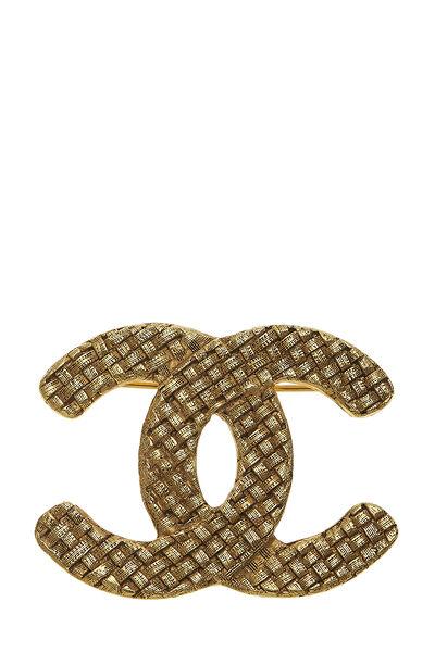 Gold Woven 'CC' Pin