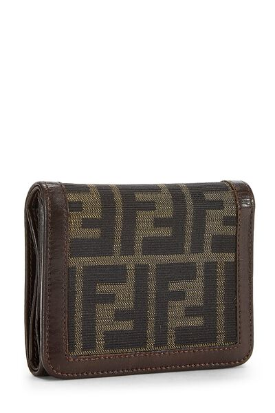 Brown Zucca Canvas Wallet, , large
