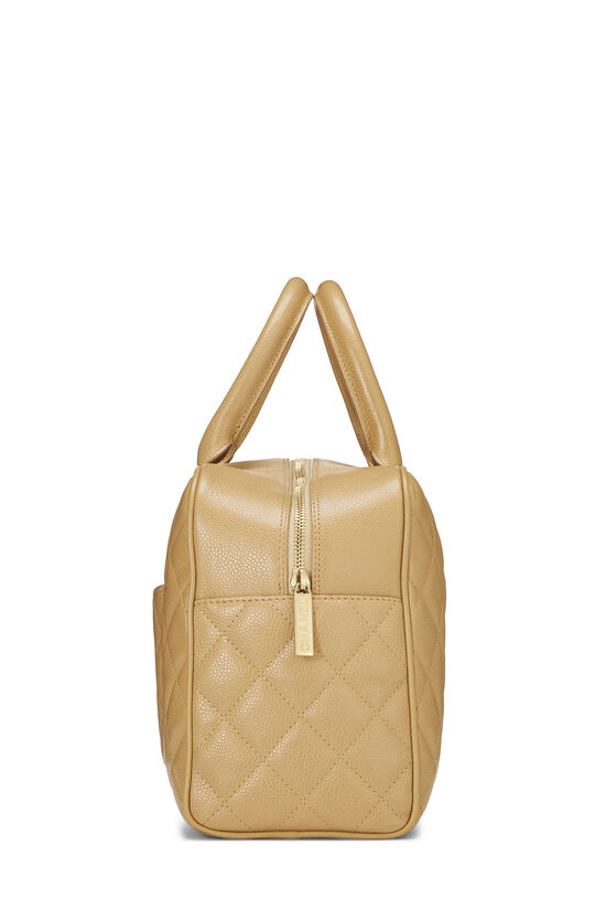 Beige Quilted Caviar Bowler Small, , large image number 2