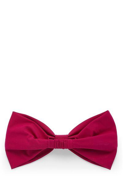 Pink Nylon Bow Headband, , large