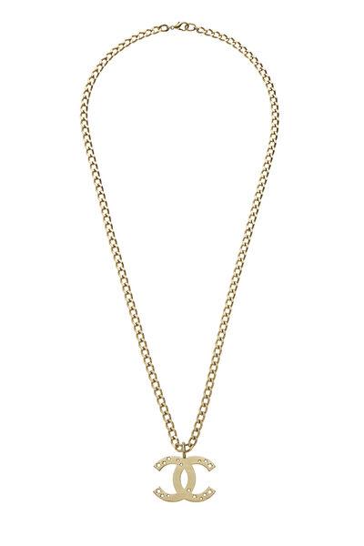 Gold Cutout Star 'CC' Necklace