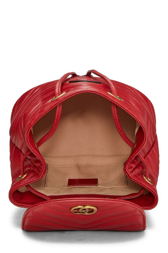 Red Leather 'GG' Marmont Backpack Small, , large image number 5