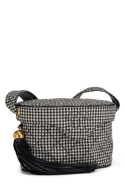 Black & White Wool Houndstooth Binocular Bag Small, , large