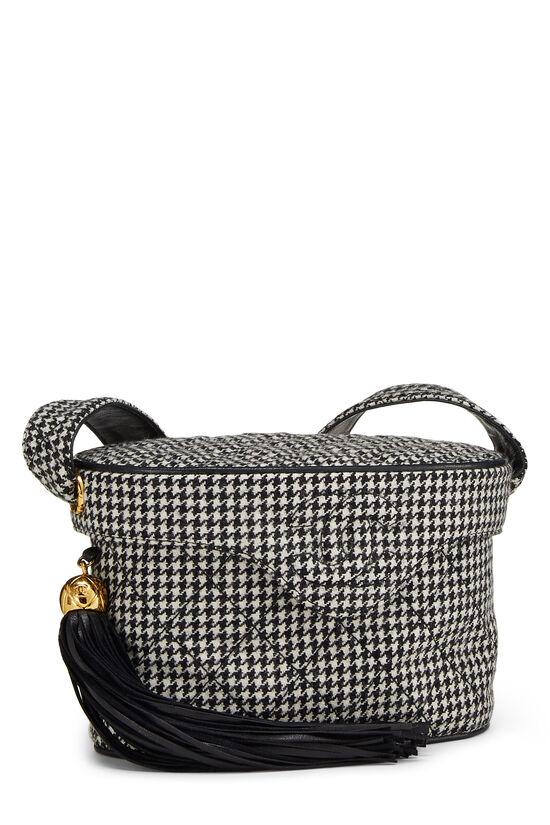 Black & White Wool Houndstooth Binocular Bag Small, , large image number 1