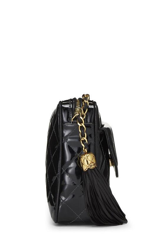 Black Patent Leather Pocket Camera Bag Medium, , large image number 3