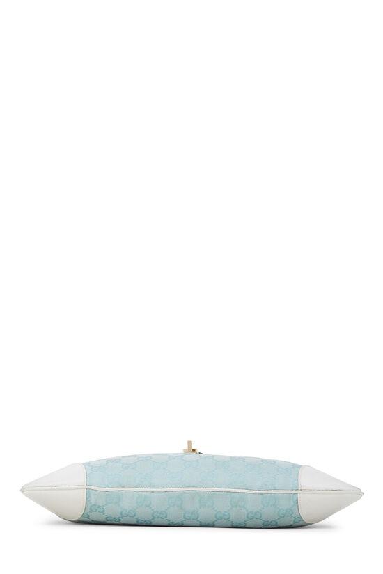 White & Blue GG Canvas Jackie Shoulder Bag Small, , large image number 4