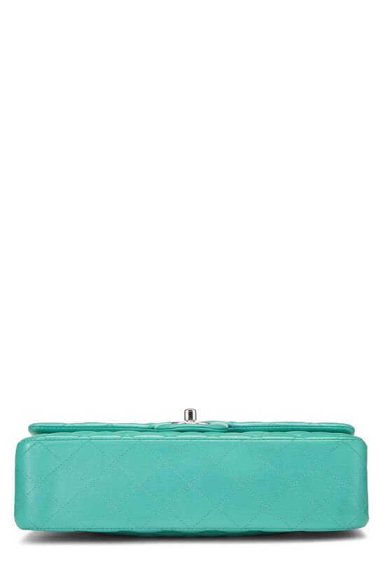 Green Quilted Lambskin Classic Double Flap Medium, , large image number 4