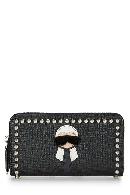 Black Coated Canvas Karlito Wallet, , large image number 0
