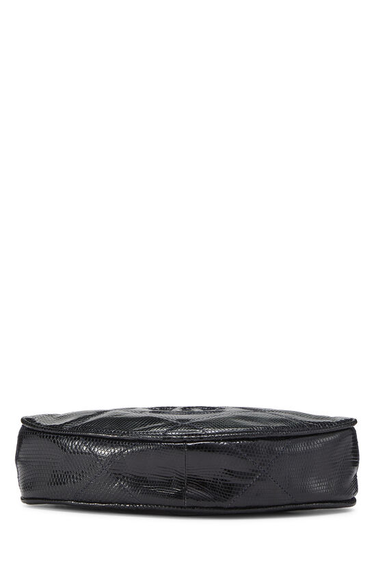 Navy Lizard Oval Clutch, , large image number 4