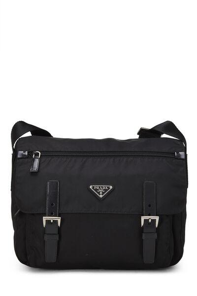 Black Vela Messenger Bag Small