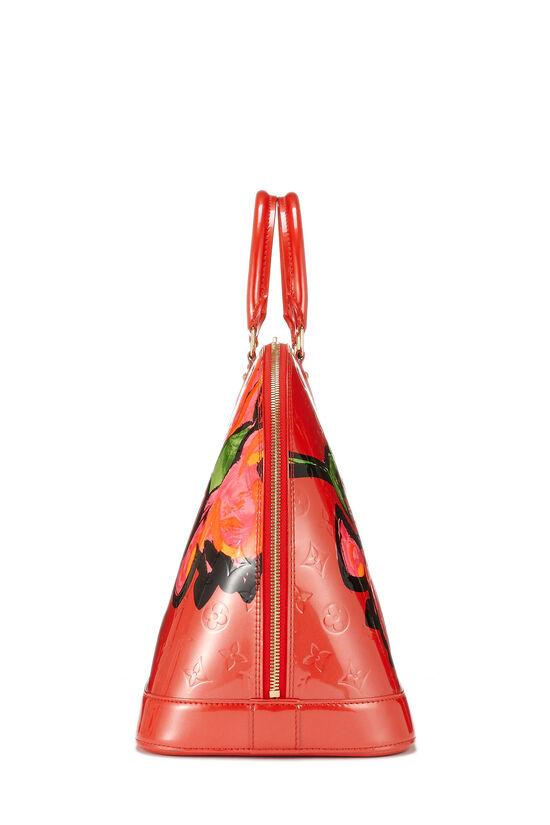 Stephen Sprouse x Louis Vuitton Pink Monogram Vernis Roses Alma GM, , large image number 2