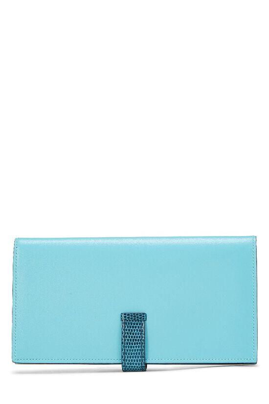 Aqua Lizard & Leather Bearn Wallet, , large image number 2
