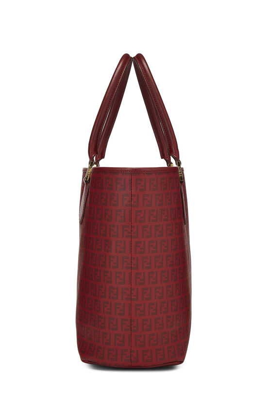 Red Zucchino Coated Canvas Tote, , large image number 2