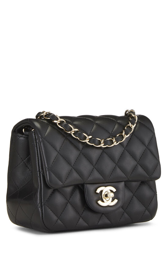 Black Quilted Lambskin Classic Square Flap Mini, , large image number 1
