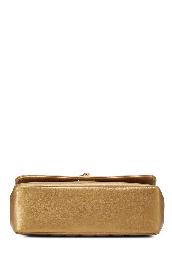 Gold Lambskin Border Flap Mini, , large image number 4
