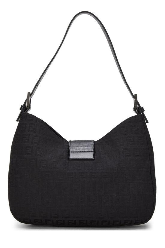 Black Zucchino Canvas Shoulder Bag, , large image number 3