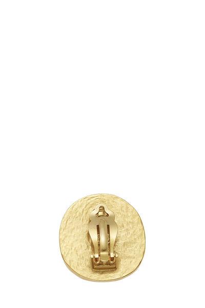 Brown Stone 'CC' Earrings, , large