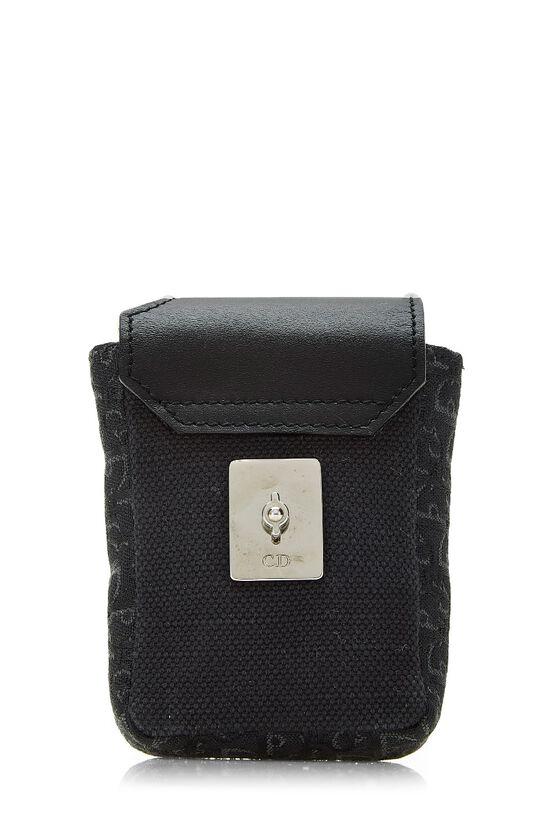 Black Oblique Canvas Belt Bag, , large image number 5