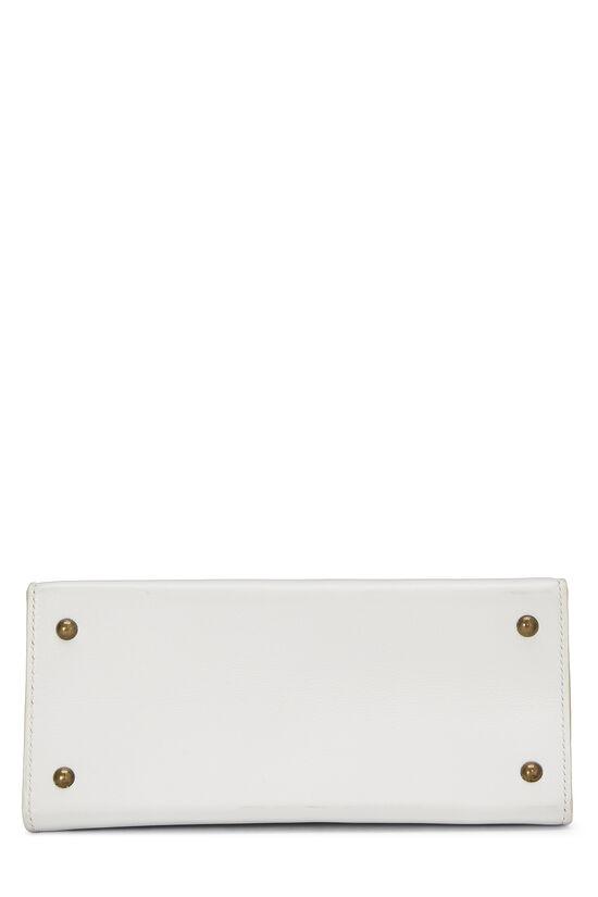 White Chevre Kelly Sellier 20 Mini, , large image number 4