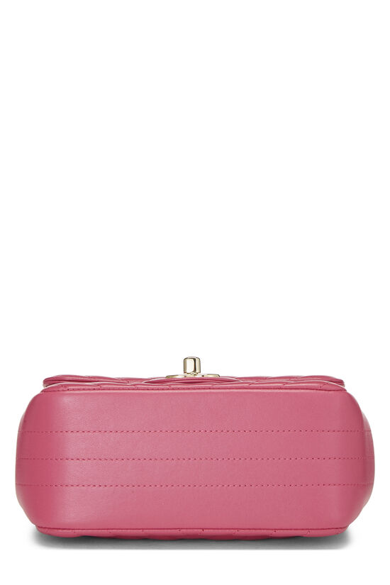 Pink Quilted Lambskin Classic Square Flap Mini, , large image number 4