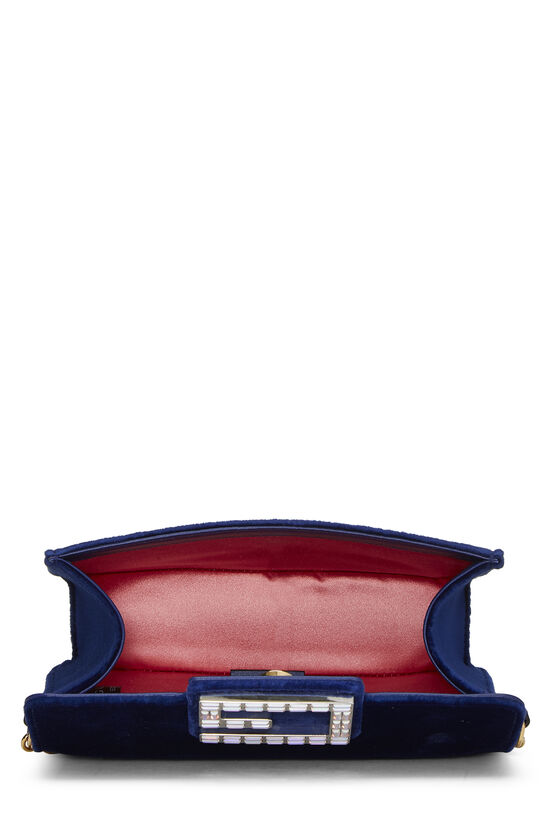 Blue Velour Broadway Crossbody Mini, , large image number 5