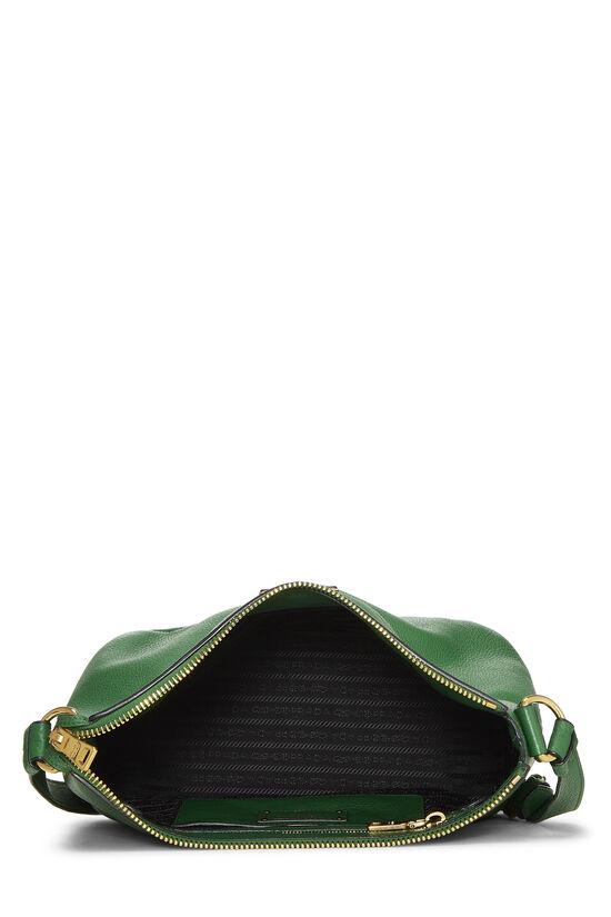 Green Vitello Daino Shoulder Bag, , large image number 6