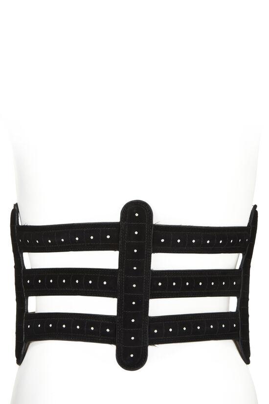 Black Suede Corset Belt 75, , large image number 3