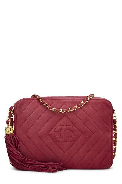 Pink Suede Diamond CC Camera Bag Medium