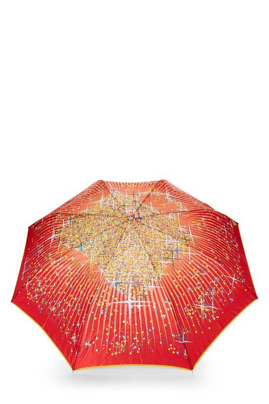 Red Nylon Dot Motif Umbrella, , large image number 3