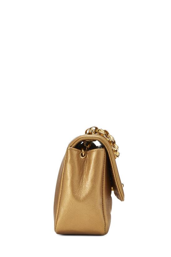 Gold Lambskin Border Flap Mini, , large image number 2