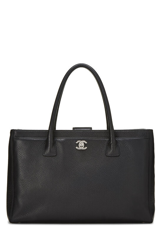 Black Calfskin Cerf Executive Shopper Tote, , large image number 0