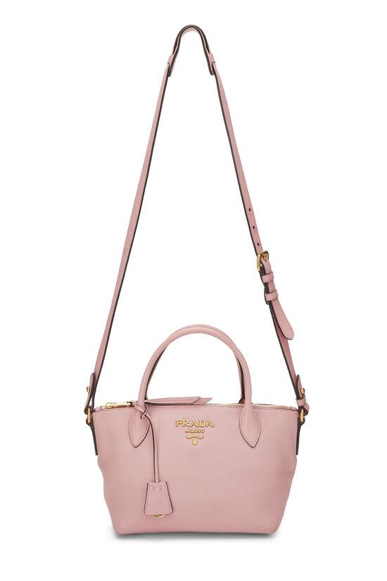 Pink Vitello Daino Handbag Small, , large image number 7