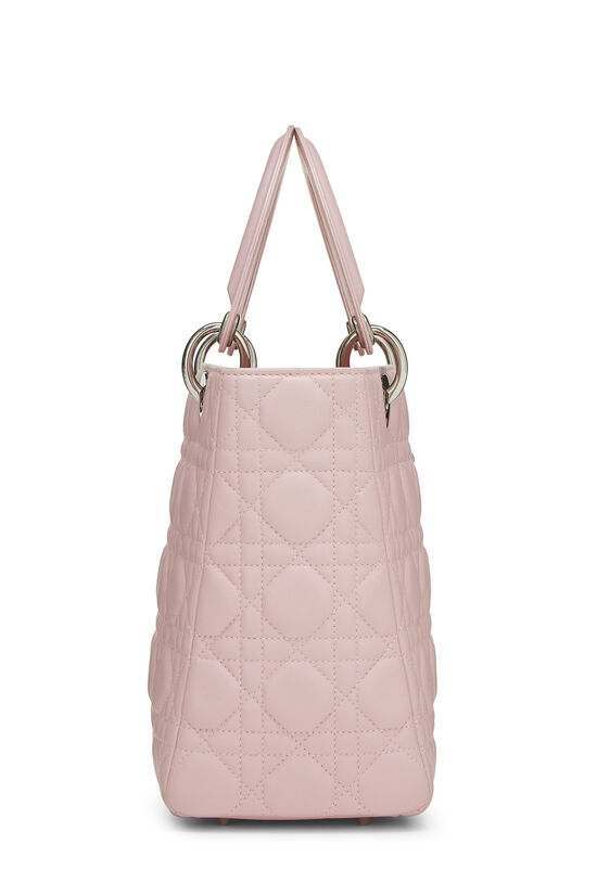 Pink Cannage Quilted Lambskin Lady Dior Medium, , large image number 2