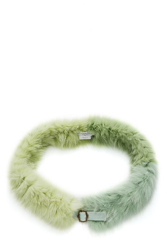 Green Fox Boa Scarf, , large image number 0