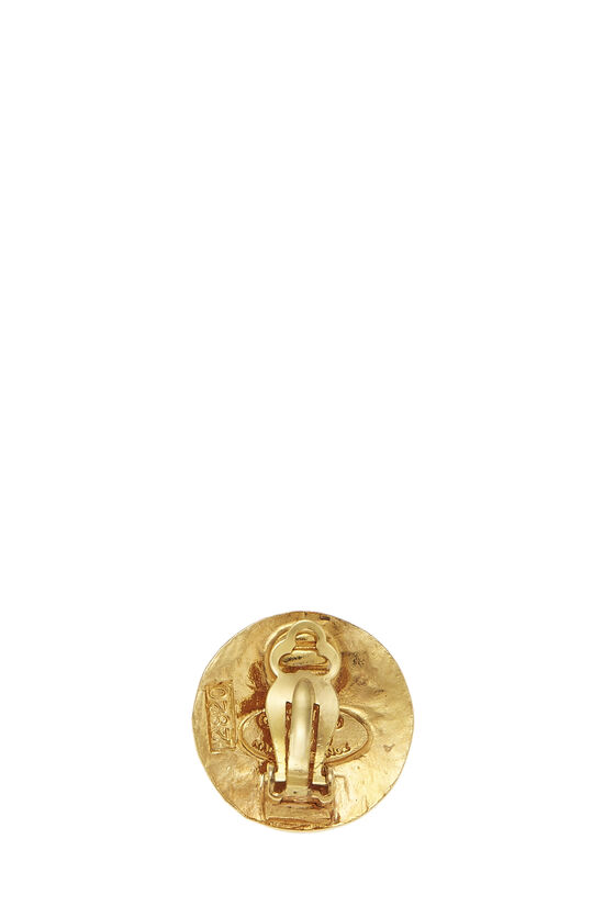 Gold Paris Round Earrings Small, , large image number 1