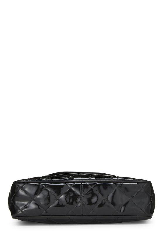 Black Patent Leather Pocket Camera Bag Medium, , large image number 5