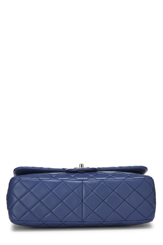 Blue Quilted Lambskin Classic Flap Jumbo, , large image number 4