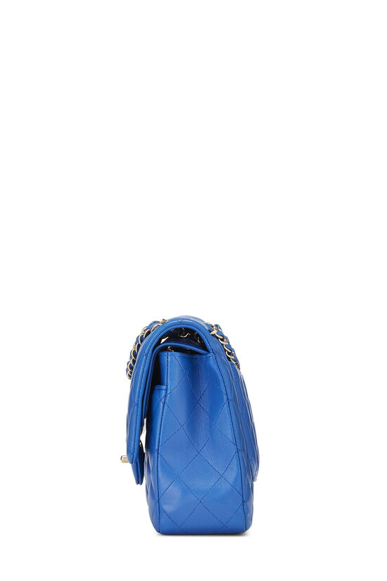 Blue Quilted Lambskin Classic Double Flap Medium, , large image number 2