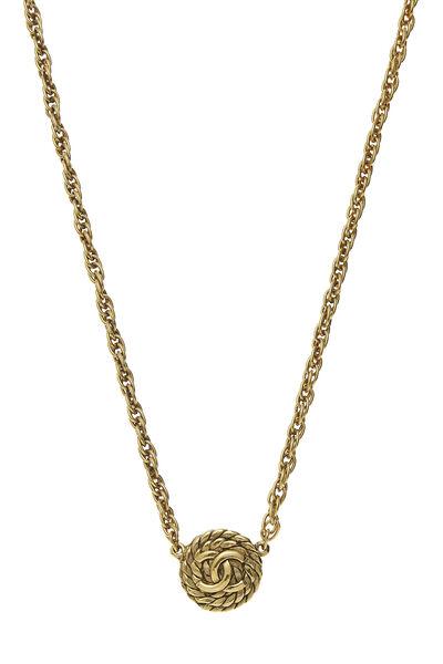 Gold 'CC' & Rope Choker, , large