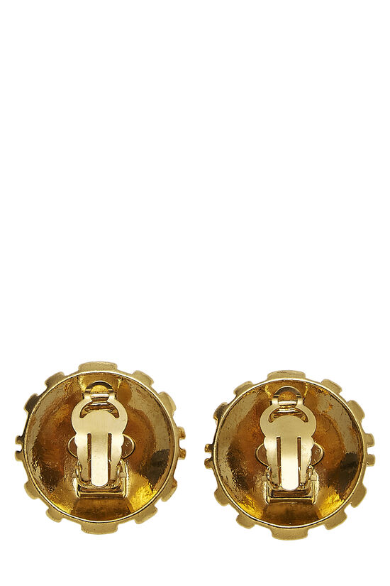 Gold Woven CC Earrings, , large image number 1