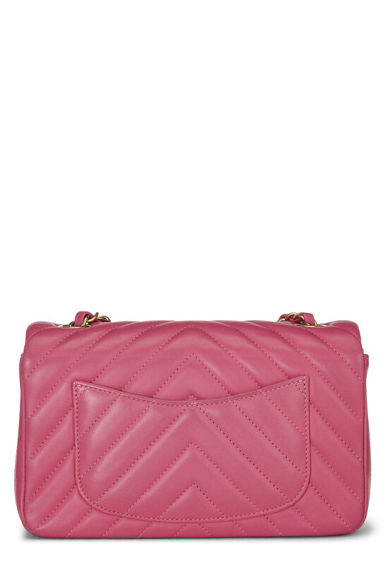 Pink Chevron Lambskin Classic Flap Mini, , large image number 3