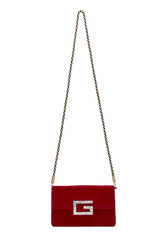Red Velour Broadway Crossbody Mini, , large image number 6