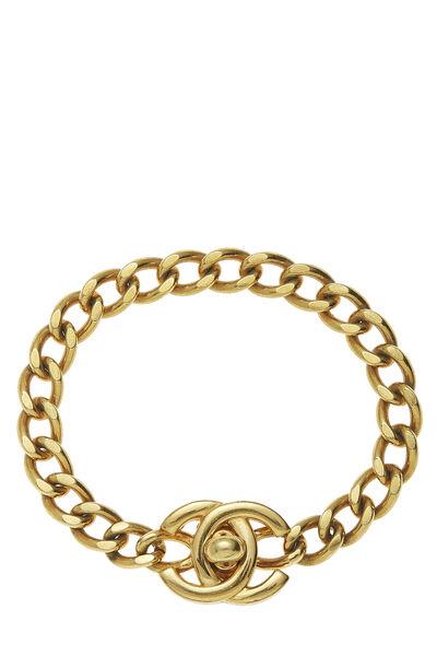 Gold 'CC' Turnlock Bracelet Small